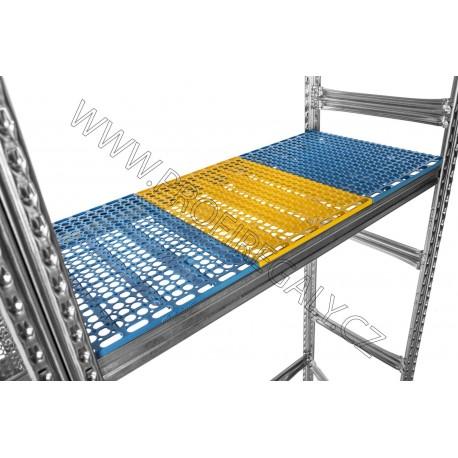 Plastová police S0 žlutá 600 x 500 mm