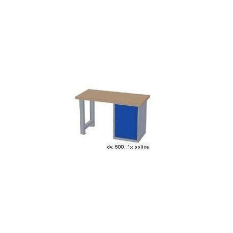 Pracovní stůl - deska ( x h x v): BUK 2500 x 700 x 50mm