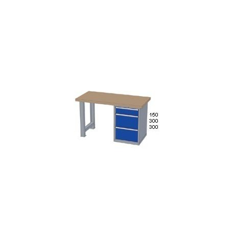 Pracovní stůl - deska ( x h x v):  MULTIPLEX 1500 x 800 x 50mm