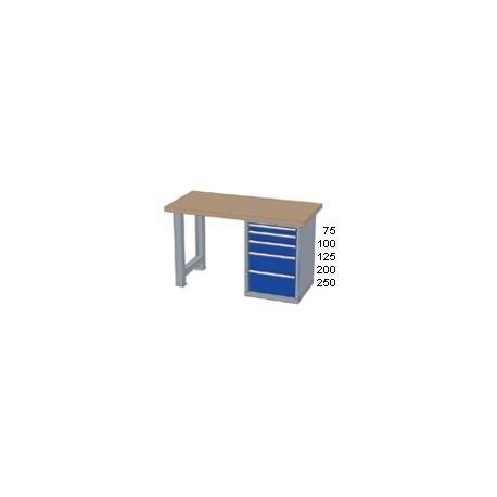 Pracovní stůl - deska ( x h x v):   BUK 2500 x 700 x 40mm