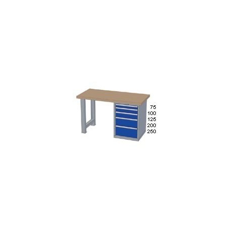 Pracovní stůl - deska ( x h x v):   MULTIPLEX 2000 x 800 x 40mm