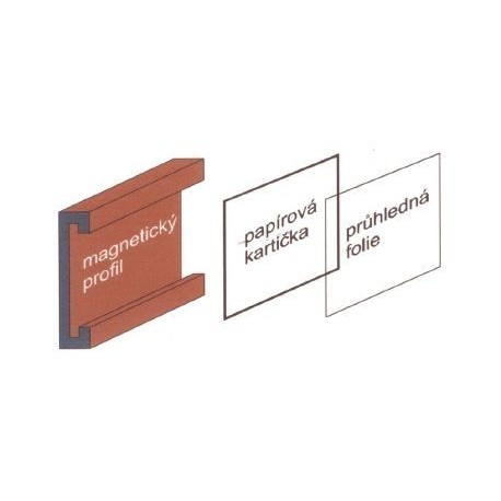 magnetická etiketa v.60 x d.75mm