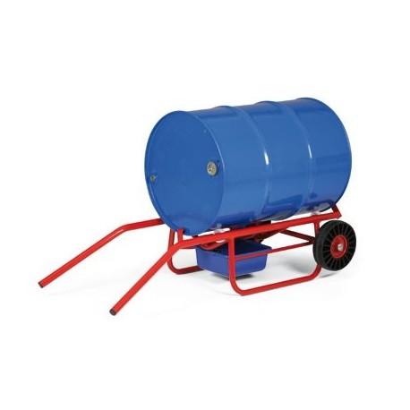 Dvoupolohový vozík na sudy