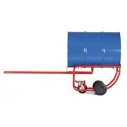Vozík na sudy vhodný pro sklady olejů
