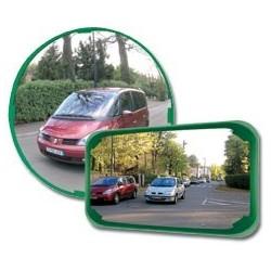 Mnohoúčelové zrcadlo-zelený rám, průměr 400mm