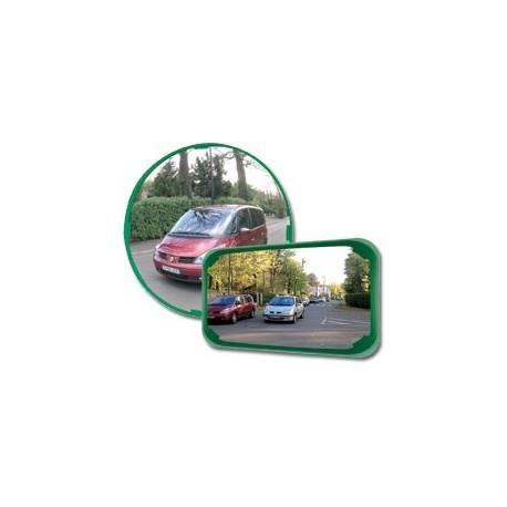 Mnohoúčelové zcadlo -zelený rám, průměr 600mm
