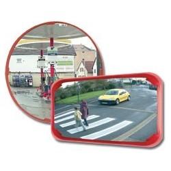 Mnohoúčelová zrcadla- červený rám, průměr 400mm