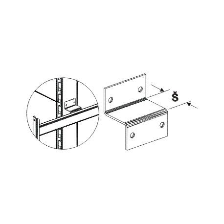 Spojka čela s oboustranným regálem (stojina 60x30)