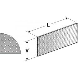 Zadní panel děrovaný S 625/200mm