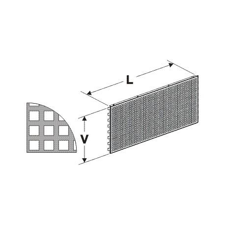 Zadní panel děrovaný D 625/400mm