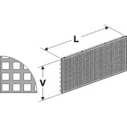 Zadní panel koutový 90°děrovaný D 400mm