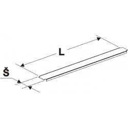 Krycí lišta gondoly (stojina 60x30mm)625mm