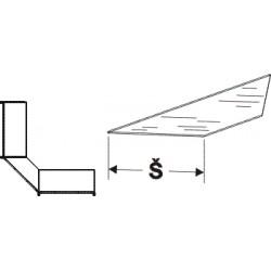Police skleněná koutová 90°200mm