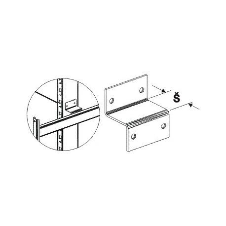 Spojka čela s oboustranným regálem (stojina 80x30)