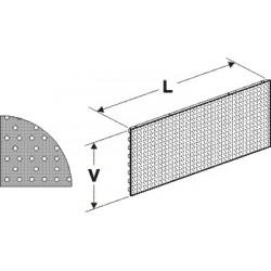 Zadní panel děrovaný S 625/400mm