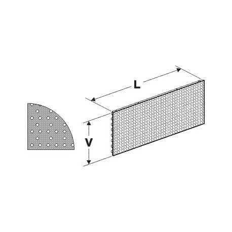 Zadní panel děrovaný S1330/200mm