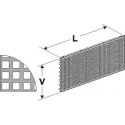 Zadní panel děrovaný D 1250/400mm