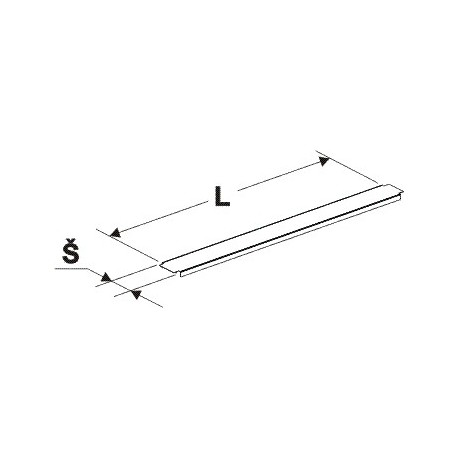Krycí lišta gondoly (stojina 60x30mm)1000mm