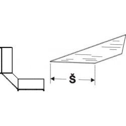 Police skleněná koutová 90°300mm