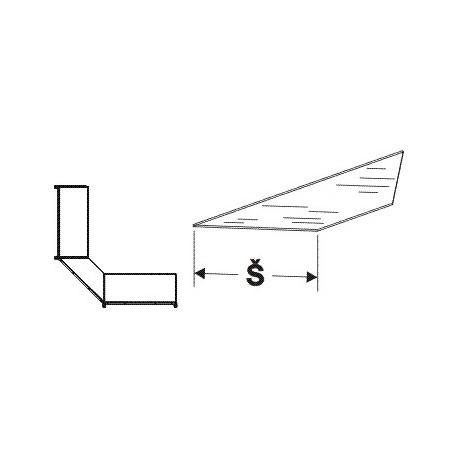 Police skleněná koutová 90°400mm