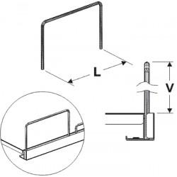 Čelní opěra drátěná 140/75 mm