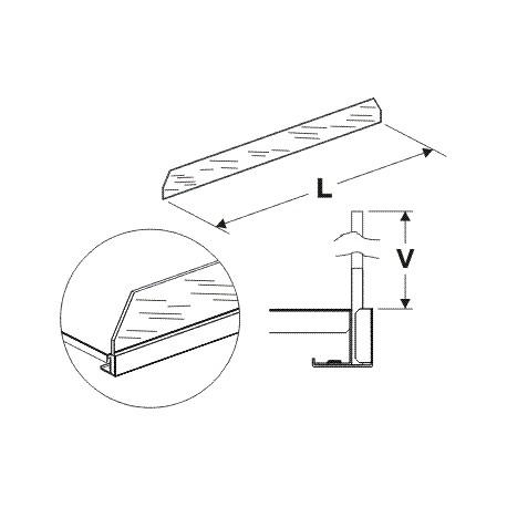 Čelní opěra vysoká (sklo) 625mm