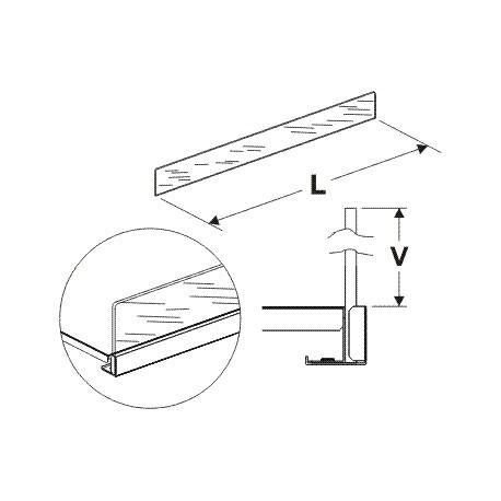 Čelní opěra vysoká (plexisko) 625/75mm