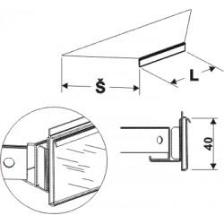 Cenovková lišta koutová 90°200mm