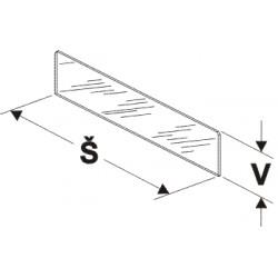 Dělítko nízké (sklo) 200/75mm