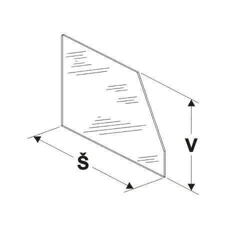 Dělítko vysoké (sklo) 300/250mm