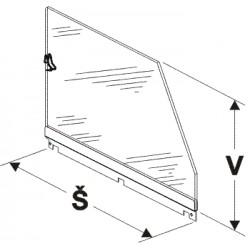 Bočnice police vysoká (plexisklo) 300mm