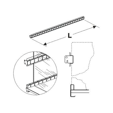 Hřeben pro vysoká dělítka 625mm