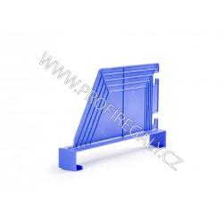 Dělítko šikmé plastové modré hl.400 x v.200mm