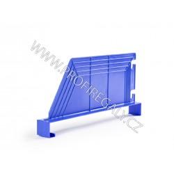 Dělítko šikmé plastové modré hl.500 x v.200 mm