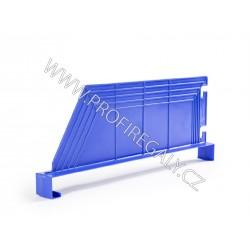 Dělítko šikmé plastové modré hl.600 x v.200 mm