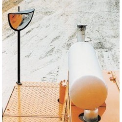 Zpětné zrcátko pro stavební stroje s kabinou
