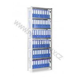 Regál Archivní SUPER123 2500x1500x600mm 7 polic přídavný modul