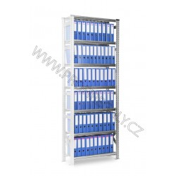 Regál Archivní SUPER123 3028x1050x320mm 8 polic přídavný modul