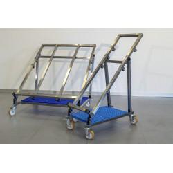 Nerezový pojízdný stojan jednostranný IRIS 440 mm