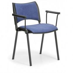 Konfereční čalouněná židle Smart s područkami