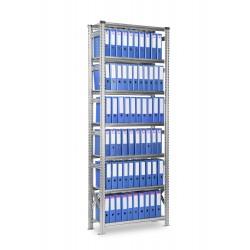 Regál Archivní SUPER123 2500x1350x320mm 7 polic základní modul