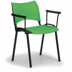 Konferenční plastová židle Smart s područkami CH
