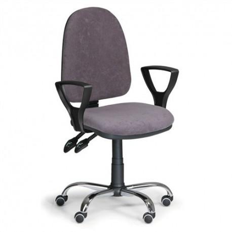 Kancelářská židle Torino s područkami a chromovaným křížem