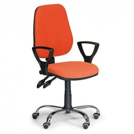 Kancelářská židle Comfort s područkami a chromovaným křížem CH
