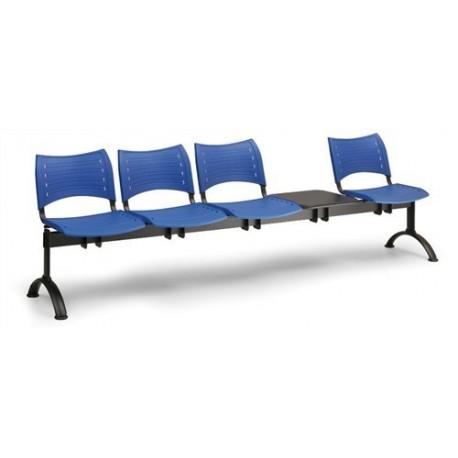 Plastová lavice Visio 4+1