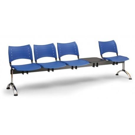Plastová lavice Visio 4+1 CH
