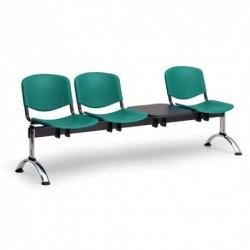 Plastová lavice ISO 3+1 CH