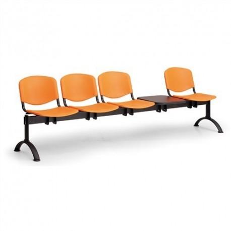 Plastová lavice ISO 4+1