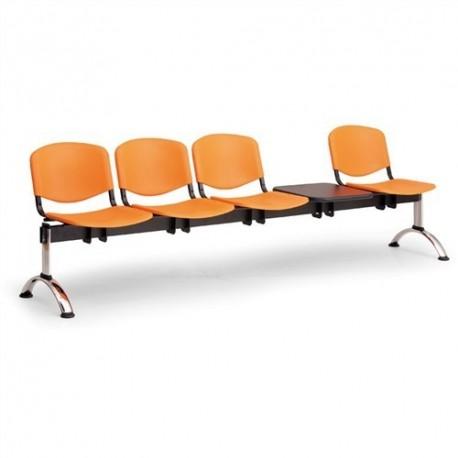 Plastová lavice ISO 4+1 CH