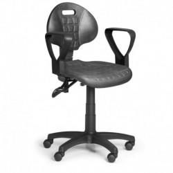 Pracovní židle PUR2 s područkami